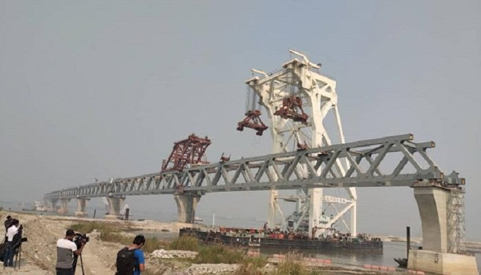 2.7 km of Padma Bridge visible